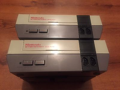 Vintage Nintendo Entertainment System NES Console Lot of 2 For Parts or Repair