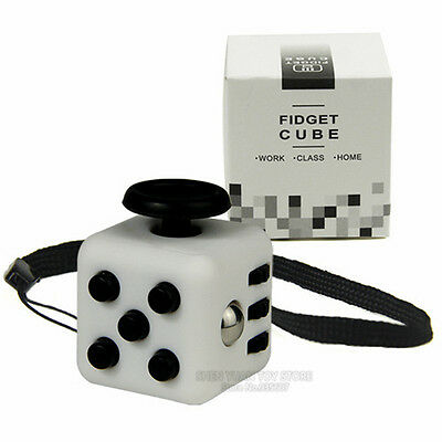 Mini 6-sided Fidget Cube Stress and Anxiety Reliever 6 Colours