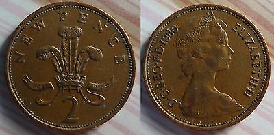 COLLECTIBLE 2p NEW PENCE COIN 1980
