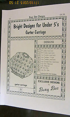 Machine Knitting Busy Bee Garter Carriage Patterns Bright Designs For Under 5's