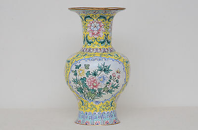 Chinese Canton enamel vase (probably Republic period)