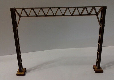 Laser Cut OO/HO Gauge Catenary Gantry Frame Kits for Twin Tracks Pack of 10