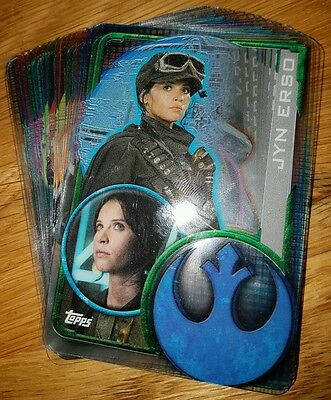 Star Wars Rogue One Plastic Cards - Lot of 10 random cards - stocking filler