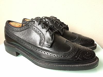 Men's Vintage Stafford Black Leather Longwing Oxford Shoes size 9.5