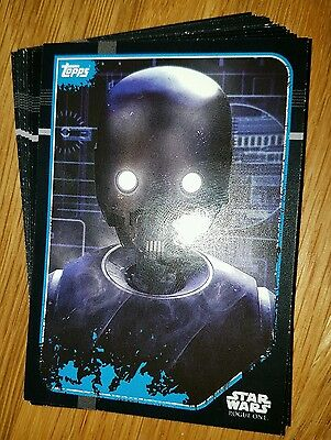 Star Wars Rogue One Sticker Cards - Lot of 6 random Cards - stocking filler gift