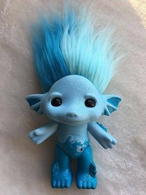 "Moose The Zelfs 4"" Marmalade Blue Haired 4"" Troll Doll Toy"