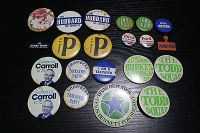 20 Vintage Kentucky Campaign Buttons Carroll Chambers Tax Payer Party Hubbard