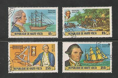 Burkina Faso #474-477 VF Used - 1978 65fr To 350fr Captain James Cook