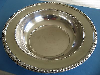 """Vintage Sterling Silver 9"""" Round Bowl by Ellmore Silver Co #14 (178g) Mono """"A"""""""