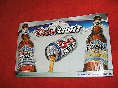 coors light beer sign garage sign dorm room advertising party man cave new