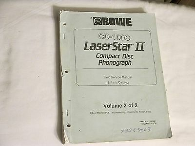 Rowe Cd-100C Laserstar Ii Cd Jukebox Manual - Vol 2 Of 2