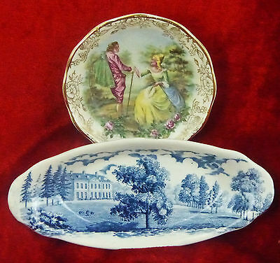 James Kent And Royal Worcester Two Colorful Pin Dishes
