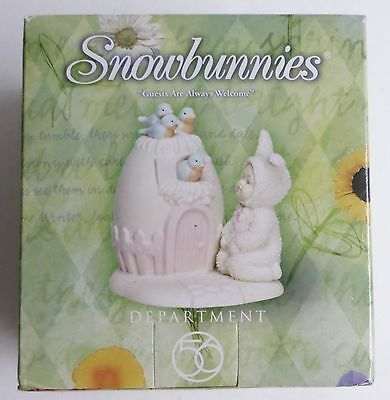 "26325 Snowbunnies Department 56 ""Guests are Always Welcome"" Figurine 1999 NEW"
