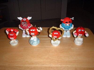 Lot of 4  M&M Valentine Toppers - 2 Mini Dispensers