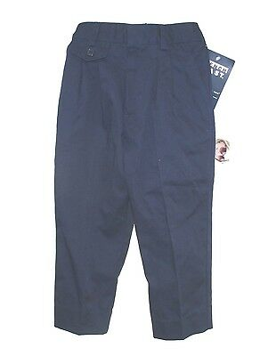 French Toast School Uniform Boy Girl Navy Blue Wrinkle Resistant Elastic Pants 4