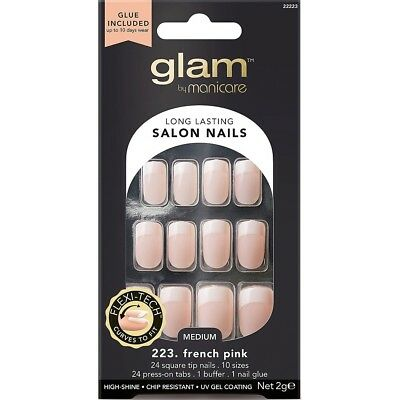 Manicare Glam French Square Nail Tip Pink Medium