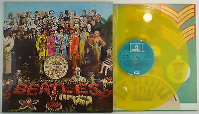 THE BEATLES  - Sgt. Peppers Lone LP Spain 1978 * YELLOW VINYL* ODEON - LIMITED !