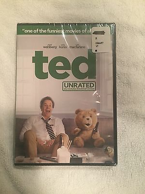 Ted (DVD, 2012 UNRATED BRAND NEW) Mark Wahlberg Mila Kunis Seth McFarlane SEALED