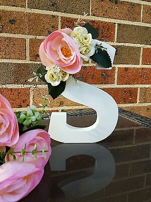 Handmade wooden floral letters