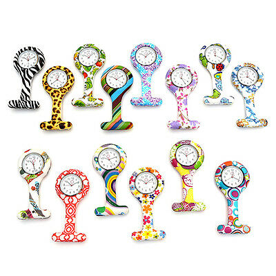 Silicone Nurse Doctor Medical Watch Brooch Fob Watch With Free Battery Newest