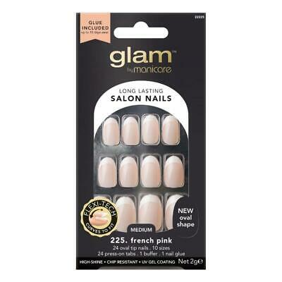 Manicare Glam French Oval Nail Tips