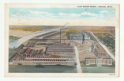 1931 OLDS MOTOR WORKS, LANSING, MICHIGAN. Post Card