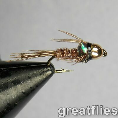 1 dozen (12) - Pheasant Tail Nymph - Flash Back - Bead Head