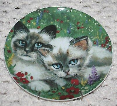 "Cat Collection ""Country Cat"" Collectible plate Formalities by Baum Bros EUC"