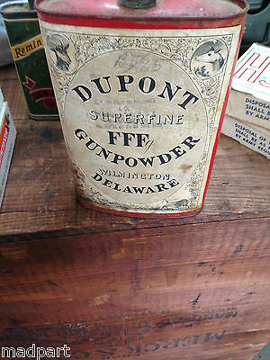 ANTIQUE DuPONT POWDER CAN
