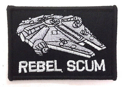 "Star Wars Rebel Scum Millennium Falcon 3"" Embroidered Patch-FREE S&H(SWPA-FC-37)"
