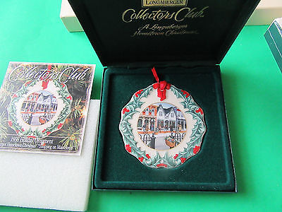 Longaberger~Hometown Christmas~Shopping On Main Street~1998 Ornament~In Case