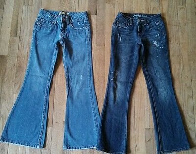 Lot 2 Flare Jeans - Girls Size 10 Slim - JUSTICE & OLD NAVY
