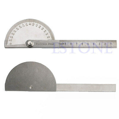 New Stainless Steel 180 degree Protractor Angle Finder Arm Measuring Ruler Tool