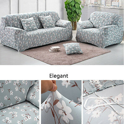 1/2/3 Seater Sofa Stretch Slipcover Protector Settee Cover Couch Slip Sofa Cover