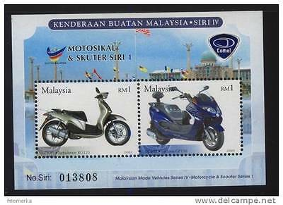 Malaysia 2003 Motorcycles scooter comel s/s MNH