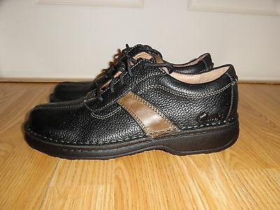 NEW CLARKS MEN'S CASUAL SHOES Black Oxfords Loafers Size 7 M Leather