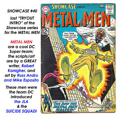 SHOWCASE # 40 Last METAL MEN INTRO/TRYOUT! SOLID + COMPLETE + A$K $15 = CHEAP!