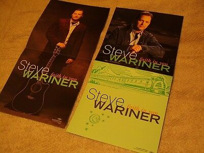 Steve Wariner *Six 2000 Faith In You Promotional Cardboard Poster Flats!