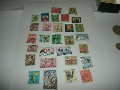 Australian Used Postage Stamps total 28