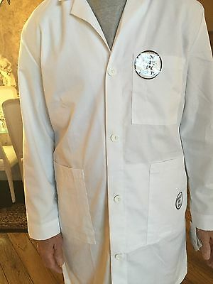 "Men's Very Fine Twill Meta 1st Quality Lab Coat Length 40"" for 13.75"