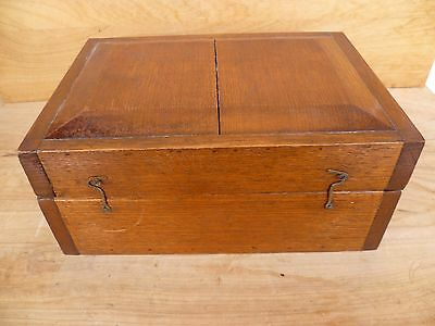 Vintage Old Large Size Timber 'hand Made' Box, Old Timber Case (C964)