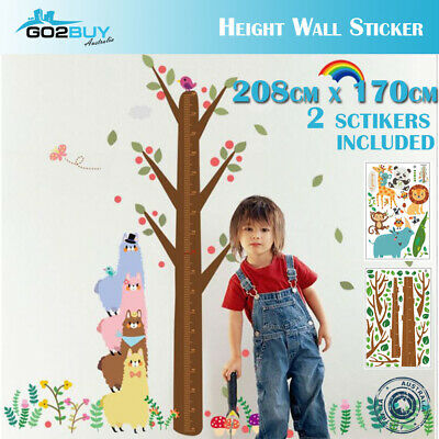 DIY Wall Stickers Removable Dinosaur Height Kids Mural Decal Growth Chart