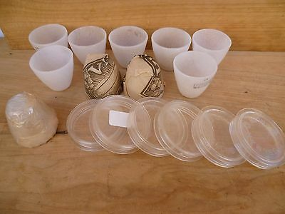 Vintage Old Large Lot Of Medical, Science Measures, Cups, Containers Etc (C970)