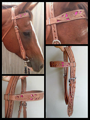 Stunning handcarved with glitter coloured inlay pink cob