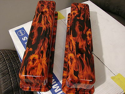 sbc rocker covers small block chev done in flames