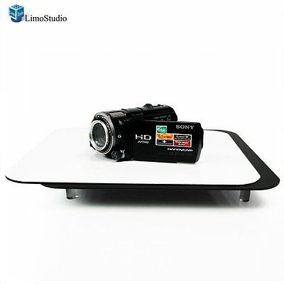 LimoStudio Acrylic Black & White Reflective Display Table Riser for Product