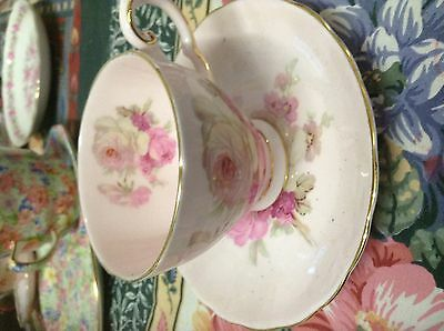 Royal Tuscan Pink Rose Demitasse-312GHE-fine bone china-made in England-Lovely!