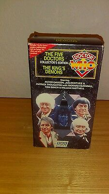 doctor who the five doctors/the kings demons video