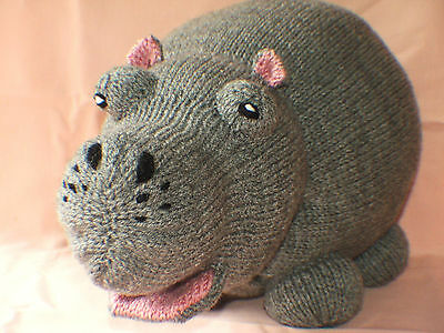 Hippo large Hand knitted Toy