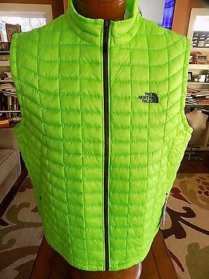 NWT Men's The North Face Thermoball Vest Packable  POWER GREEN SIZE XL  $149